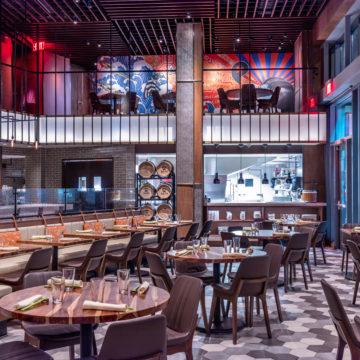 Heritage Hexagon Blend, Danlu Restaurant (Philadelphia, PA), Design: Jeffrey Beers International